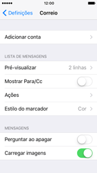 Apple iPhone 5s iOS 10 - Email - Adicionar conta de email -  4