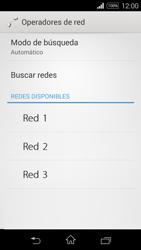 Sony D2203 Xperia E3 - Red - Seleccionar una red - Paso 8