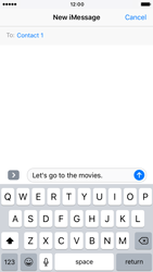Apple iPhone 7 - iOS features - Send iMessage - Step 12