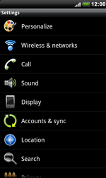 HTC S510e Desire S - Internet - Enable or disable - Step 4