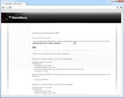 BlackBerry 9800 Torch - Software - Update installeren via PC - Stap 2