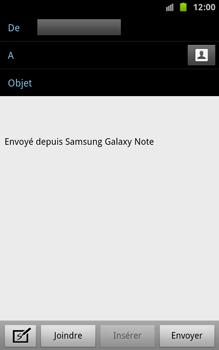 Samsung N7000 Galaxy Note - E-mail - envoyer un e-mail - Étape 4