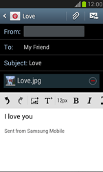 Samsung I8190 Galaxy S III Mini - Email - Sending an email message - Step 12