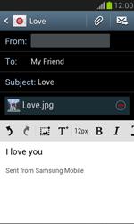 Samsung I8190 Galaxy S III Mini - E-mail - Sending emails - Step 12