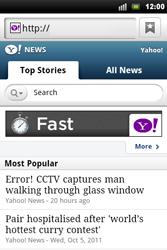 Sony Ericsson Xperia Mini Pro - Internet - Internet browsing - Step 11