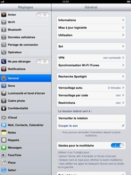 Apple iPad mini - Internet - activer ou désactiver - Étape 3