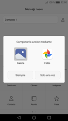 Huawei P9 Lite - Mensajería - Escribir y enviar un mensaje multimedia - Paso 14