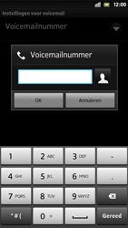 Sony LT26i Xperia S - Voicemail - Handmatig instellen - Stap 7