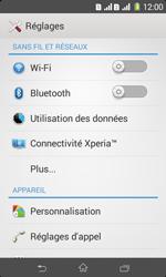 Sony Xpéria E1 Dual - Internet et connexion - Accéder au réseau Wi-Fi - Étape 4