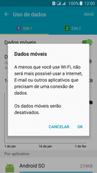 Samsung Galaxy J5 - Rede móvel - Como ativar e desativar uma rede de dados - Etapa 7