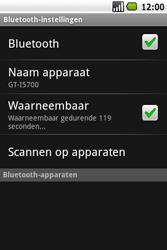 Samsung I5700 Galaxy Spica - Bluetooth - headset, carkit verbinding - Stap 6