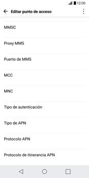 LG G6 - Mensajería - Configurar el equipo para mensajes multimedia - Paso 14