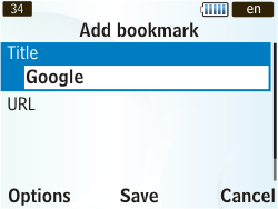 Samsung S3350 Chat 335 - Internet - Internet browsing - Step 6