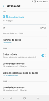 Samsung Galaxy J8 - Rede móvel - Como definir um aviso e limite de uso de dados - Etapa 6