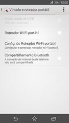 Sony Xperia E4G - Wi-Fi - Como usar seu aparelho como um roteador de rede wi-fi - Etapa 12