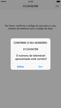 Apple iPhone 6s Plus - Aplicações - Como configurar o WhatsApp -  9