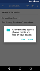 Sony Xperia XA (F3111) - Android Nougat - E-mail - Sending emails - Step 11