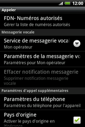 HTC A510e Wildfire S - Messagerie vocale - configuration manuelle - Étape 6