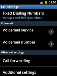 Samsung S5300 Galaxy Pocket - Voicemail - Manual configuration - Step 5