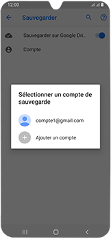 Samsung Galaxy A40 - Données - créer une sauvegarde avec votre compte - Étape 9