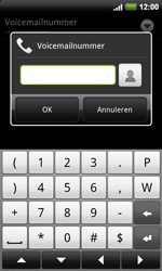 HTC A9191 Desire HD - Voicemail - handmatig instellen - Stap 6