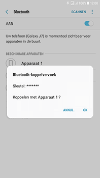 Samsung Galaxy J7 (2017) - WiFi en Bluetooth - Bluetooth koppelen - Stap 8
