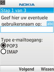 Nokia 6303i classic - E-mail - handmatig instellen - Stap 8