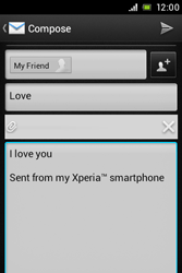 Sony ST21i Xperia Tipo - E-mail - Sending emails - Step 13