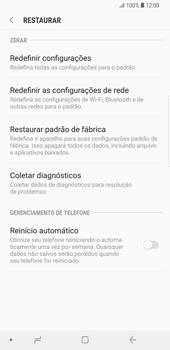 Samsung Galaxy S9 Plus - Funções básicas - Como restaurar as configurações originais do seu aparelho - Etapa 8