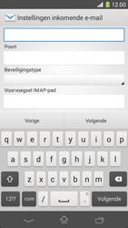 Sony D5503 Xperia Z1 Compact - E-mail - e-mail instellen: IMAP (aanbevolen) - Stap 9