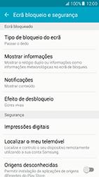 Samsung Galaxy A5 (2016) (A510F) - Segurança - Como ativar o código de bloqueio do ecrã -  5