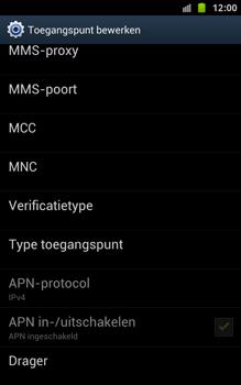 Samsung N7000 Galaxy Note - OS 4 ICS - MMS - handmatig instellen - Stap 13
