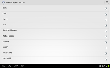 Samsung N8000 Galaxy Note 10-1 - MMS - Configuration manuelle - Étape 9