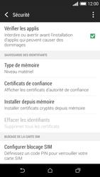 HTC Desire 610 - Sécuriser votre mobile - Personnaliser le code PIN de votre carte SIM - Étape 5