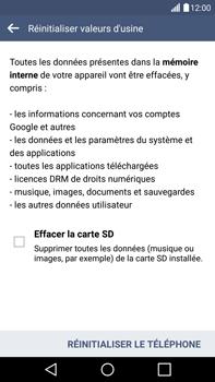 LG G4 - Aller plus loin - Restaurer les paramètres d'usines - Étape 7