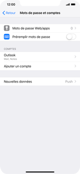 Apple iPhone XR - E-mail - Configuration manuelle (outlook) - Étape 10