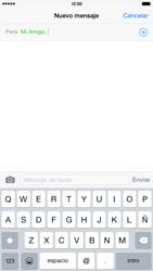 Apple iPhone 6 Plus iOS 8 - Mensajería - Escribir y enviar un mensaje multimedia - Paso 7