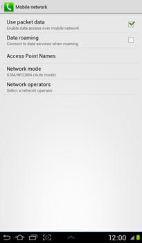 Samsung P3100 Galaxy Tab 2 7-0 - Network - Usage across the border - Step 9