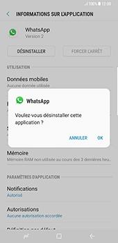 Samsung Galaxy S8+ - Applications - Supprimer une application - Étape 7