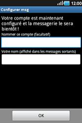 Samsung S5830 Galaxy Ace - E-mail - Configurer l