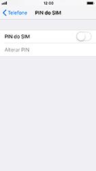 Apple iPhone 5s - iOS 12 - Segurança - Como ativar o código PIN do cartão de telemóvel -  5