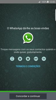 Samsung Galaxy S6 Edge + - Aplicações - Como configurar o WhatsApp -  9