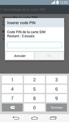 LG D855 G3 - Sécuriser votre mobile - Personnaliser le code PIN de votre carte SIM - Étape 8