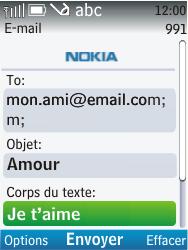Nokia C2-01 - E-mail - envoyer un e-mail - Étape 9