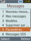 Samsung B2100 Xplorer - SMS - Configuration manuelle - Étape 4