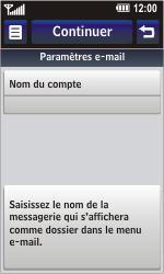 LG GC900 Viewty Smart - E-mail - Configuration manuelle - Étape 15