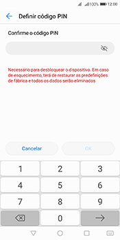 Huawei Y6 (2018) - Segurança - Como ativar o código de bloqueio do ecrã -  9