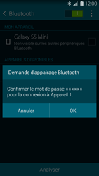 Samsung Galaxy S5 Mini (G800) - Bluetooth - connexion Bluetooth - Étape 9