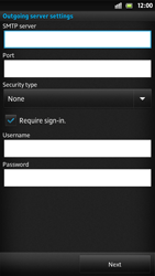 Sony LT22i Xperia P - E-mail - Manual configuration - Step 11