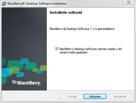 BlackBerry 9900 Bold Touch - Software - Download en installeer PC synchronisatie software - Stap 9